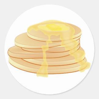 Pancakes stickers - round