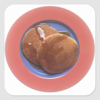 Pancakes with Maple Syrup Square Sticker