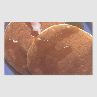 Pancakes with Maple Syrup Rectangle Sticker