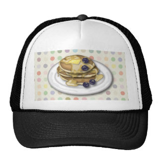 Pancakes With Syrup And Blueberries Cap