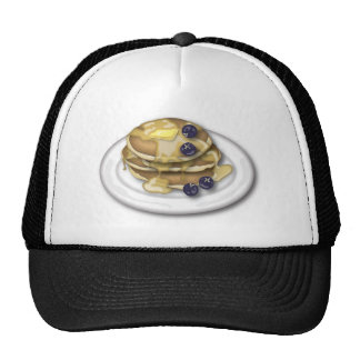 Pancakes With Syrup And Blueberries Mesh Hats