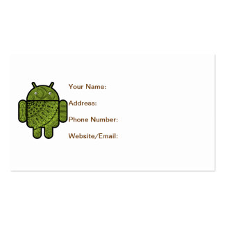 Pancho Doodle Character for the Android™ robot Business Card
