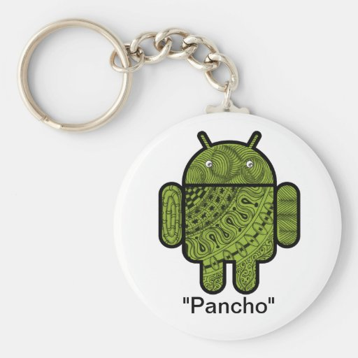 Pancho Doodle Character for the Android™ robot Keychains