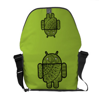 Pancho Doodle Character for the Android™ robot Messenger Bag