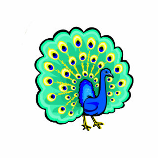 Pancho Peacock Standing Photo Sculpture