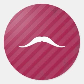 Pancho Villa Mustache Classic Round Sticker