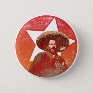 Pancho Villa Vintage Red Star 6 Cm Round Badge