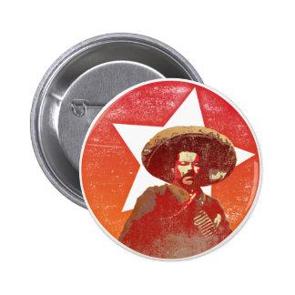 Pancho Villa Vintage Red Star Button