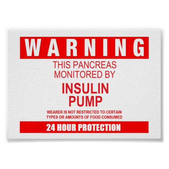 Pancreas Warning Poster