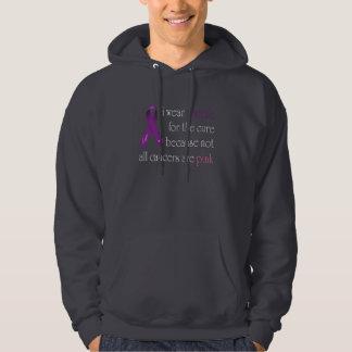 pancreatic_awareness shirt_whitetext hooded pullovers