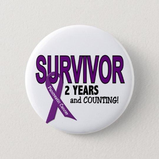 Pancreatic Cancer 2 YEAR SURVIVOR 6 Cm Round Badge