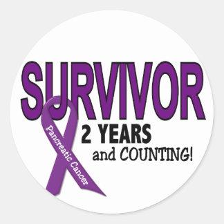 Pancreatic Cancer 2 YEAR SURVIVOR Round Sticker