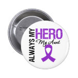 Pancreatic Cancer Always My Hero My Aunt Pinback Buttons