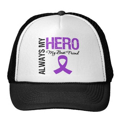 Pancreatic Cancer Always My Hero My Best Friend Mesh Hats