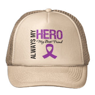 Pancreatic Cancer Always My Hero My Best Friend Trucker Hats