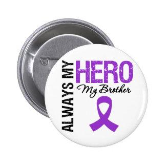 Pancreatic Cancer Always My Hero My Brother 6 Cm Round Badge
