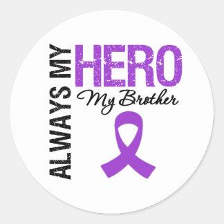 Pancreatic Cancer Always My Hero My Brother Sticker