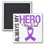 Pancreatic Cancer Always My Hero My Dad Refrigerator Magnet