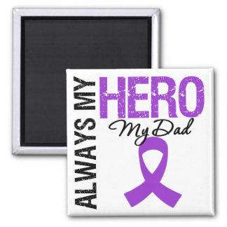 Pancreatic Cancer Always My Hero My Dad Refrigerator Magnet