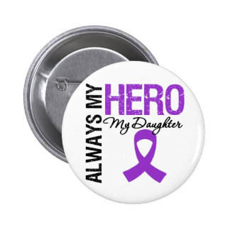 Pancreatic Cancer Always My Hero My Daughter 6 Cm Round Badge