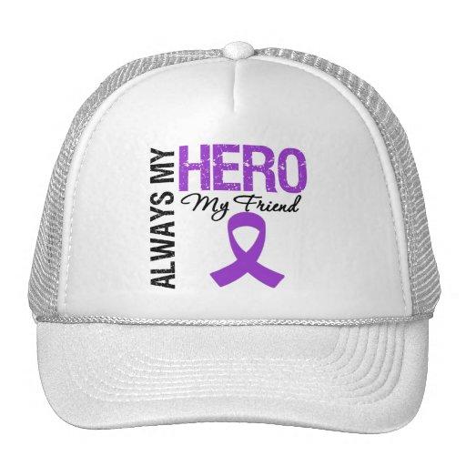 Pancreatic Cancer Always My Hero My Friend Mesh Hats