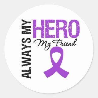 Pancreatic Cancer Always My Hero My Friend Stickers