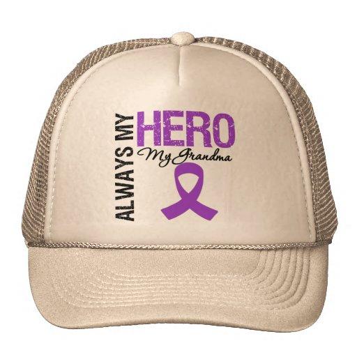 Pancreatic Cancer Always My Hero My Grandma Mesh Hat