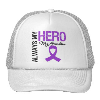 Pancreatic Cancer Always My Hero My Grandson Trucker Hat