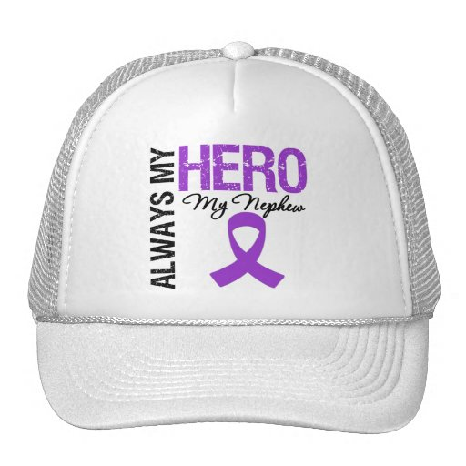 Pancreatic Cancer Always My Hero My Nephew Mesh Hats