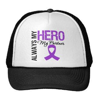 Pancreatic Cancer Always My Hero My Partner Trucker Hat