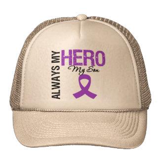 Pancreatic Cancer Always My Hero My Son Trucker Hat