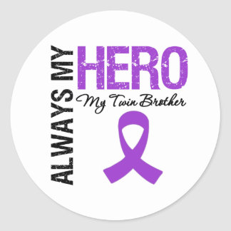 Pancreatic Cancer Always My Hero My Twin Brother Sticker