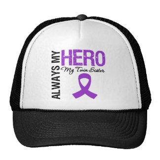 Pancreatic Cancer Always My Hero My Twin Sister Trucker Hat