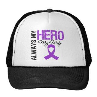Pancreatic Cancer Always My Hero My Wife Mesh Hat