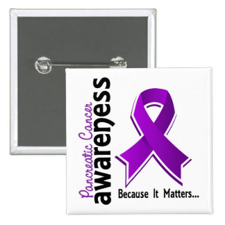 Pancreatic Cancer Awareness 5 15 Cm Square Badge