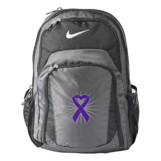 Pancreatic Cancer Awareness Heart Ribbon Backpack