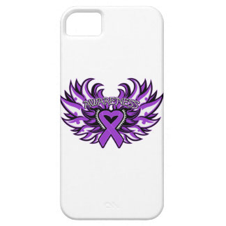 Pancreatic Cancer Awareness Heart Wings iPhone 5 Cases