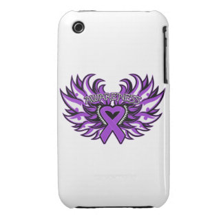 Pancreatic Cancer Awareness Heart Wings iPhone 3 Case-Mate Cases