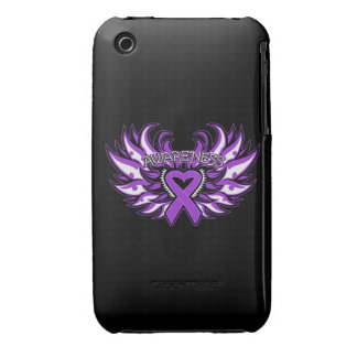Pancreatic Cancer Awareness Heart Wings iPhone 3 Case-Mate Case