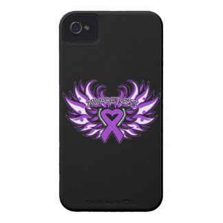 Pancreatic Cancer Awareness Heart Wings iPhone 4 Case-Mate Cases