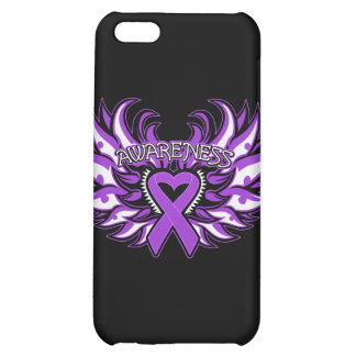Pancreatic Cancer Awareness Heart Wings.png iPhone 5C Cover