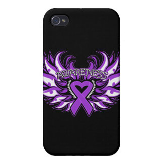 Pancreatic Cancer Awareness Heart Wings png iPhone 4/4S Covers