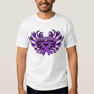 Pancreatic Cancer Awareness Heart Wings.png Tshirt