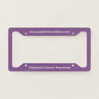 Pancreatic Cancer Awareness License Plate Frame