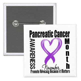 Pancreatic Cancer Awareness Month Matters 15 Cm Square Badge