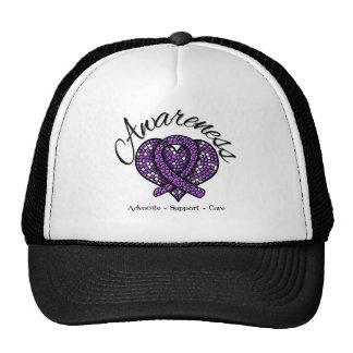 Pancreatic Cancer Awareness Mosaic Heart Trucker Hat