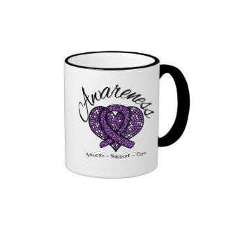 Pancreatic Cancer Awareness Mosaic Heart Coffee Mug
