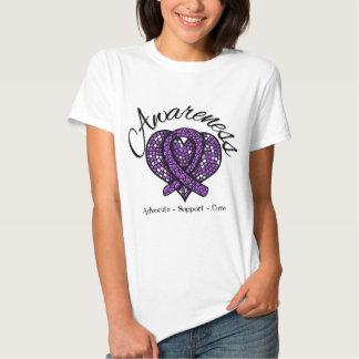Pancreatic Cancer Awareness Mosaic Heart Shirt