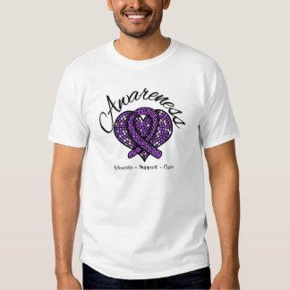 Pancreatic Cancer Awareness Mosaic Heart T-shirt