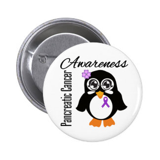Pancreatic Cancer Awareness Penguin 6 Cm Round Badge